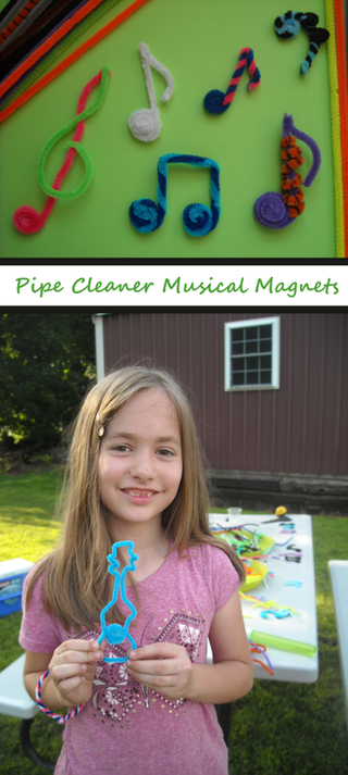 Pipe Cleaner Musical Magnets