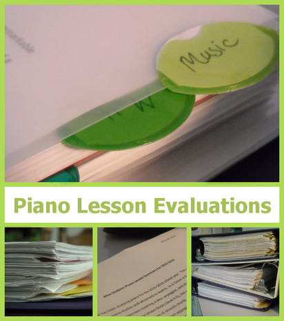 Piano Lesson Evaluations