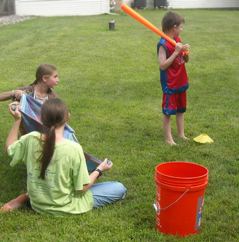 Water Balloon Baseball Piano Party